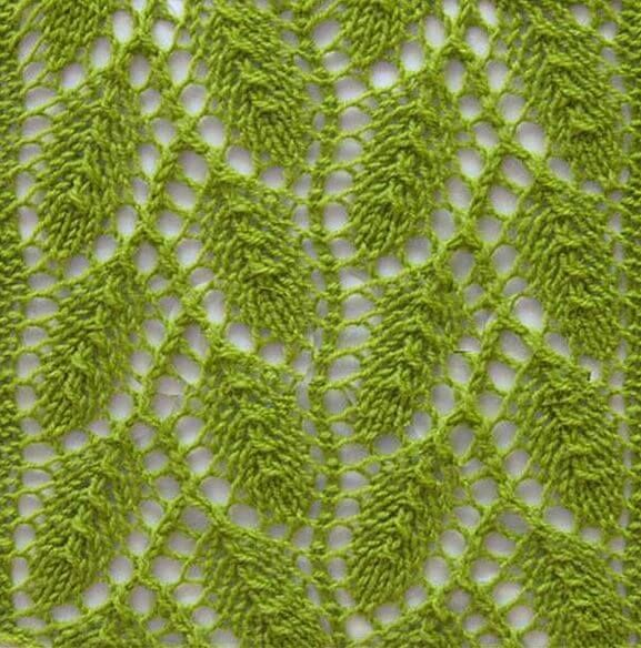 Tremor of leaves cool knitting pattern