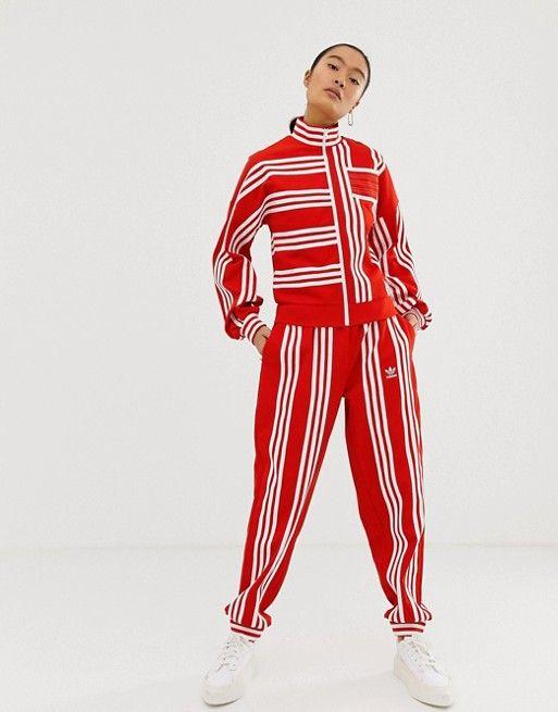 adidas Originals x Ji Won Choi mixed stripe track pant in
