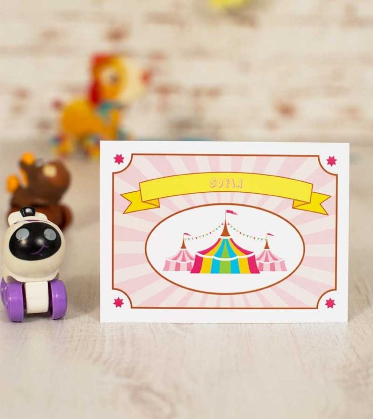 Invitatie de botez - Baby Girl Circus