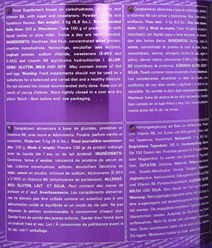 NUTRYTEC Platinum Complément pour Sportif Colossus Gigant Vanille Noisette 3 kg: augmente la masse musculaire garantit l'apport de…
