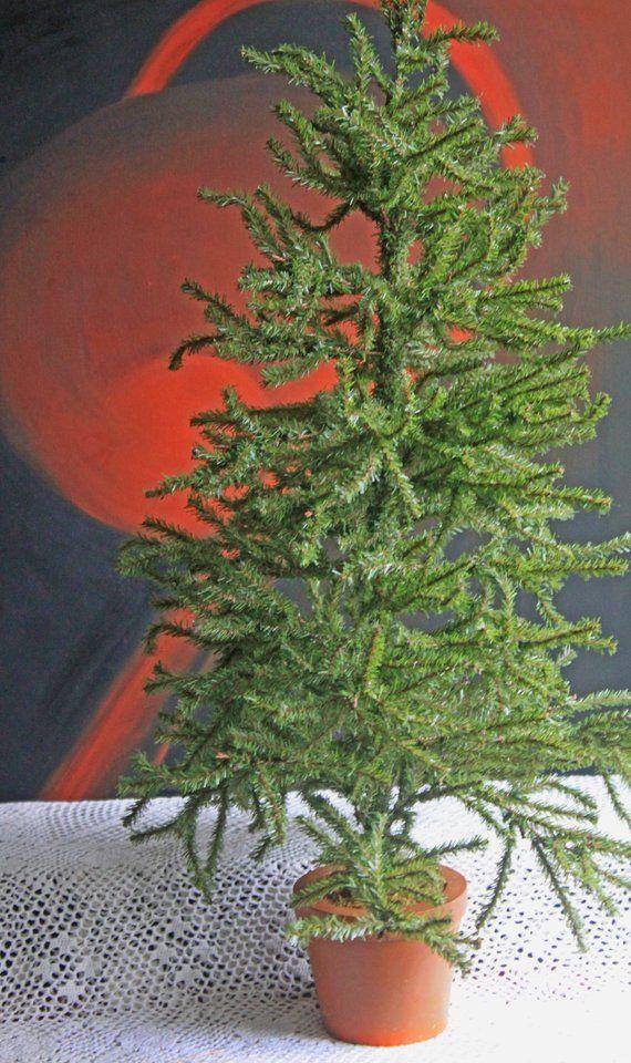 Faux Christmas Tree in Pot Christmas Pinterest Christmas