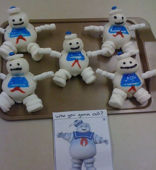 Image result for stay puft man head cake