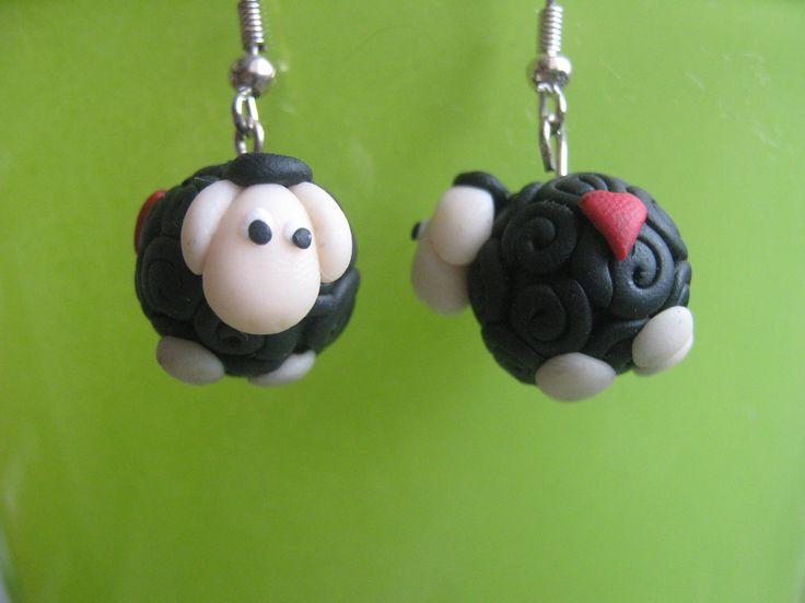 Cute and tiny sheep earrings