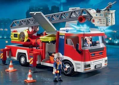 Camion de pompier avec échelle - PLAYMOBIL