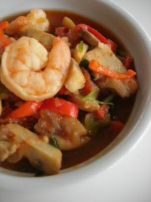 Shrimp Stew (Karides Güveç) - use Kaskaval peynir instead of mozarella