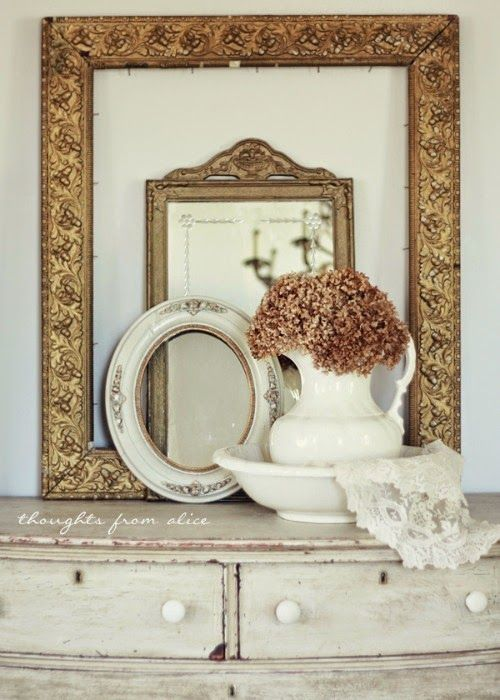 234 best images about vintage decorating on pinterest for Bungalow style picture frames