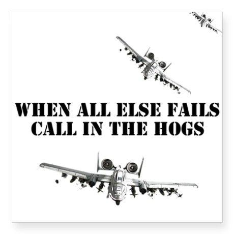 USAF A10 Warthogs Square Sticker