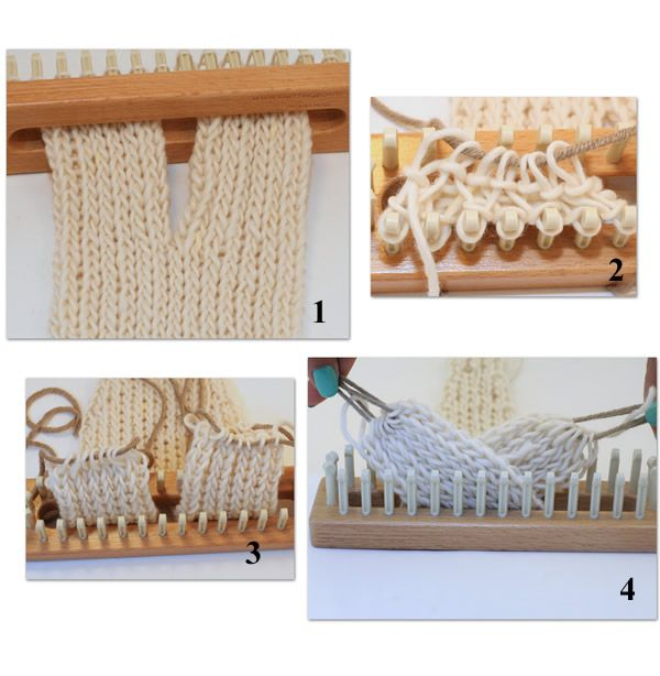 Twisted / braid technique for the loom / knitting board