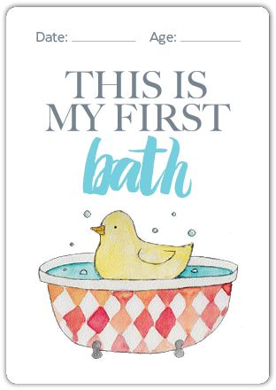 Baby Milestone Cards Set of 32 milestone cards to record every baby milestone from birth to their first steps.