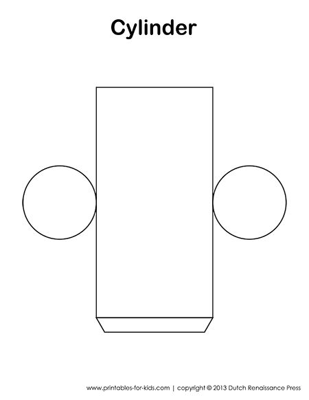 Cylinder template also has templates to other 3d figures for Cylinder packaging template