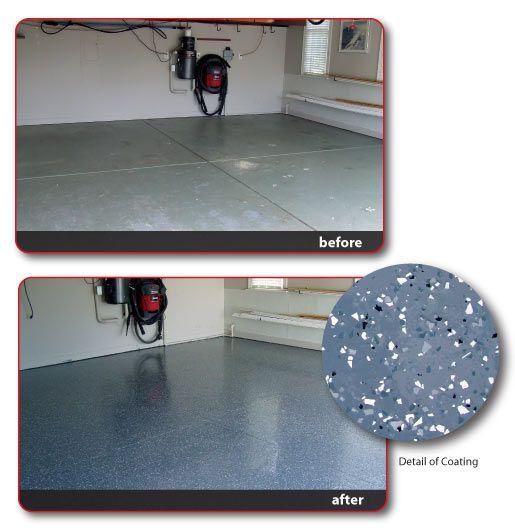 Garage floor epoxy. Must do this.