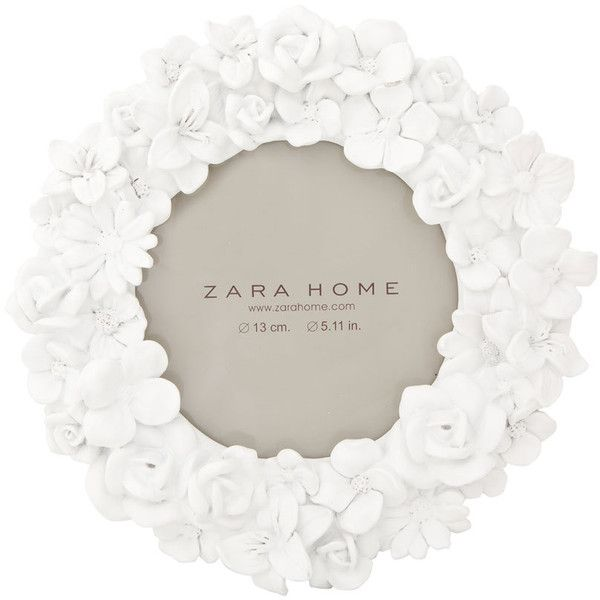 Zara Home Round Flowers Picture Frame (230 EGP) ❤ liked on Polyvore featuring home, home decor, frames, flower stem, zara home, round picture frames, round frames and circular frames
