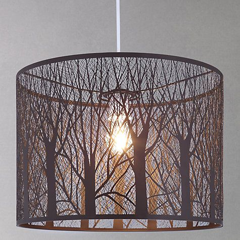 Woodland shade casts tree shadows across the room John Lewis Devon Easy-to-fit Ceiling Shade Online at johnlewis.com