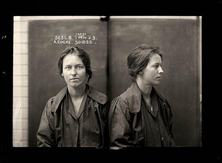 Historic female criminal photos from Historic Houses Trust.au: Police, Impressive Number, Vintage Mugshots, 1920S, Photography, Mug Shots
