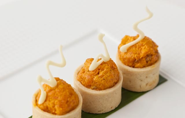 Vineet Bhatia's carrot fudge  (I can see seeds in place of the cashews)
