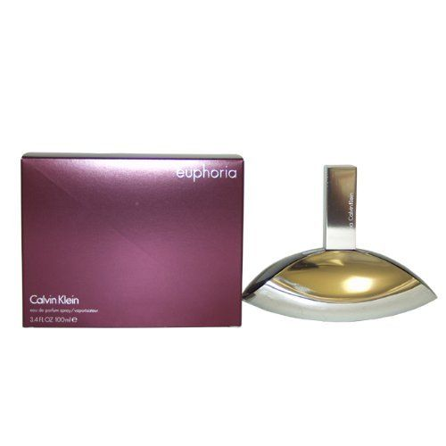 Euphoria by Calvin Klein for Women, Eau De Parfum Spray, 3.4 Ounce by Calvin Klein. $45.67. Packaging for this product may vary from that shown in the image above. This item is not for sale in Catalina Island. Free yourself with euphoria, a provocative new fragrance from Calvin Klein. A contrast of exotic fruits and seductive black orchid with a rich and creamy signature, it's a journey without limits.. Save 35%!