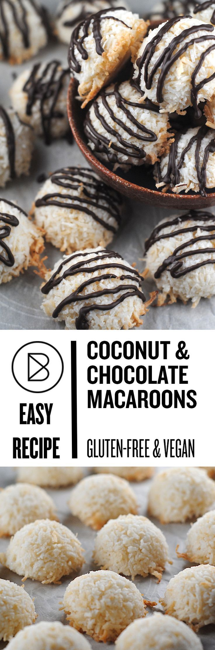 Vegan Macaroons: These are super easy coconut cookies that are both vegan and gluten-free.