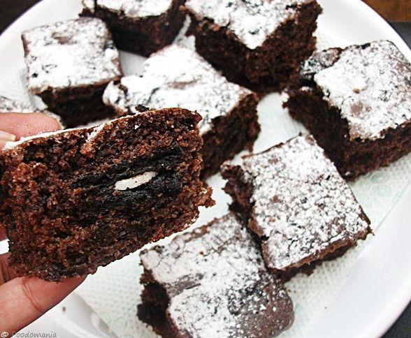 Oreo Brownies #eggless #chocolate