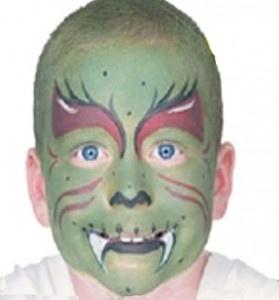 Maquillaje monstruo verde
