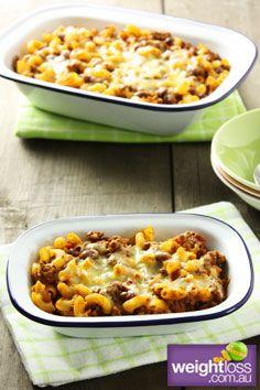 Healthy Pasta Recipes: Chilli Mac Bake. weightloss.com.au  #HealthyRecipes #WeightlossRecipes #DietRecipes