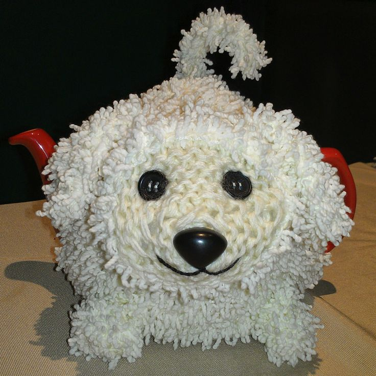 Craft a cure for cancer free tea cosy pattern: Animal tea cosies ...free patterns for tea cosy lovers, including this cute pup! Make one for yourself and another to raise money for cancer cure.