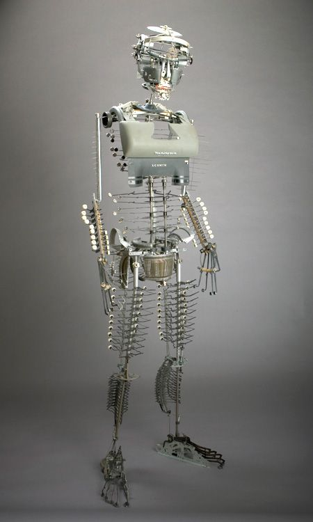 Jeremy Mayer Recycled Typewriter sculptures