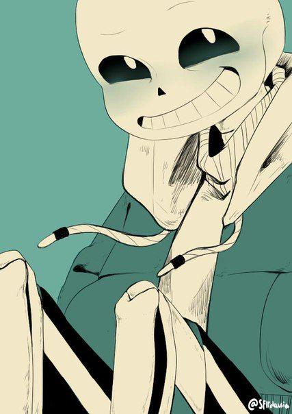 Undertale ART Sans looks so adorable when he's blushing