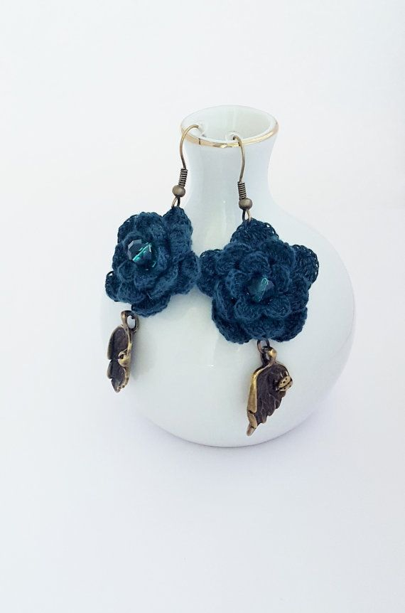 Handmade Jewelry with Crystal Unique Earrings by CatanaHandmade
