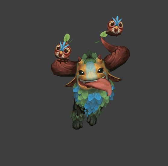 Awesome 'Shagbark' asset created for the Dota online world