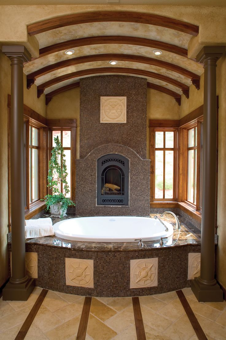 Bathroom Jacuzzi Decorating Ideas 65 best cozy bathroom fireplaces images on pinterest | dream