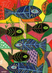 la portada del almanaque 2015 (pintura al frío)