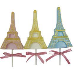 Travel - Eiffel Tower Lollipop Chocolate MoldMoldings Perfect, Birthday Parties, Eiffel Towers, Parties Ideas, Bridal Shower, Towers Lollipops, Travel Parties Theme, Chocolates Moldings, Lollipops Chocolates
