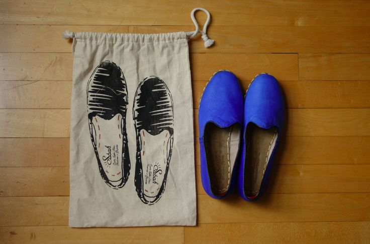 Shoes and their bag.