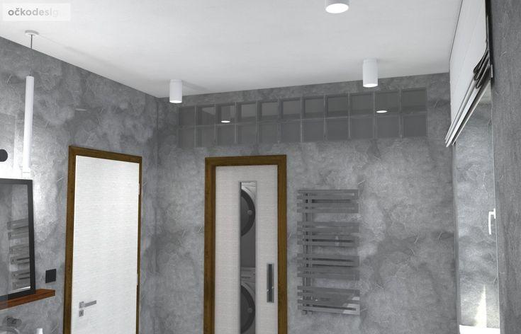 Díky použití luxfer se do prádelno-šatny dostane i přírodní světlo