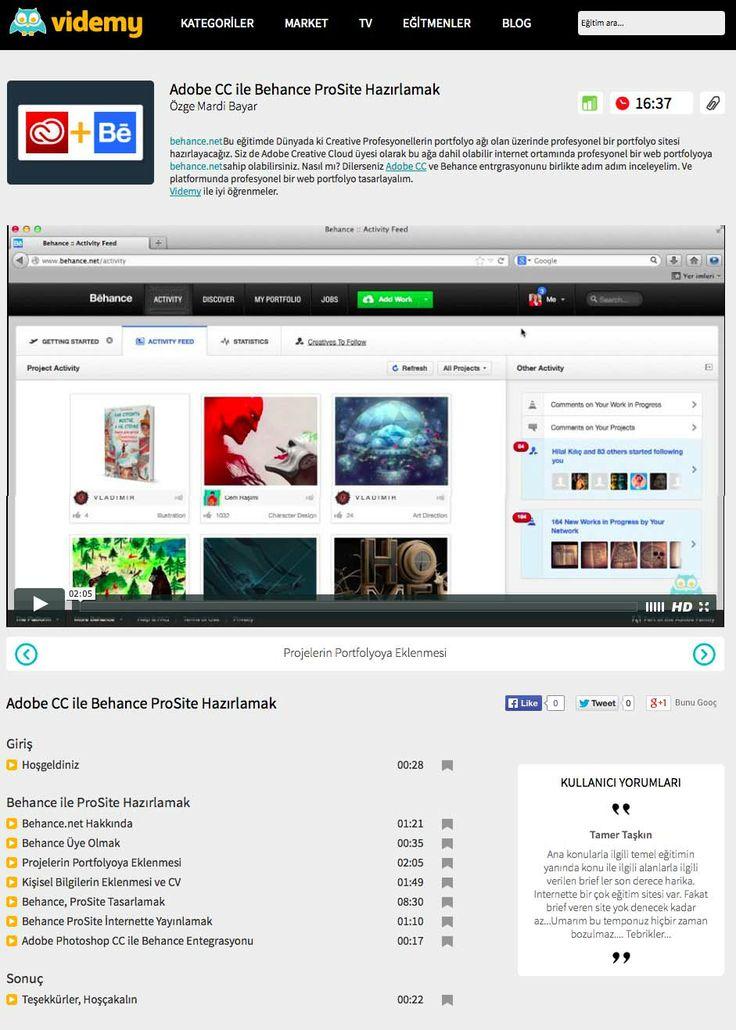 behance.net üzerinde profesyonel bir web portfolyo sitesi hazırlamanın püf noktaları videmy.com