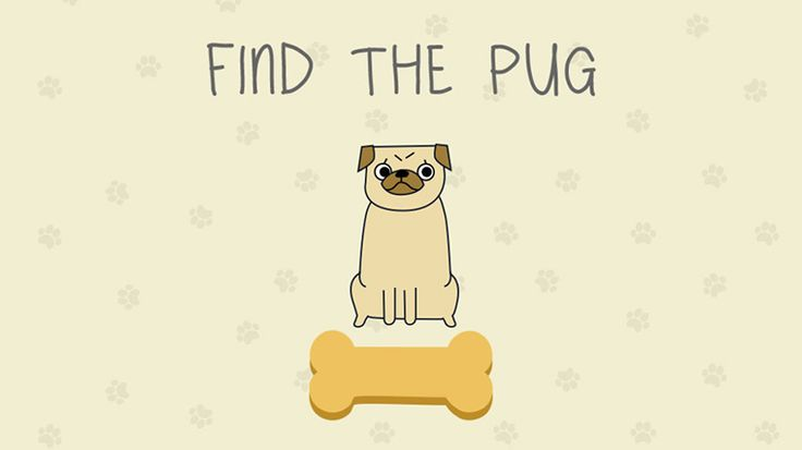 Find the pug - New Game!