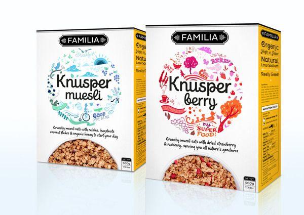 Knusper Muesli Packaging by Andrew Novialdi, via Behance