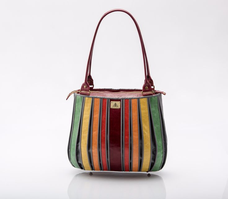 "SHOULDER BAG ""rhythm of stripes"""