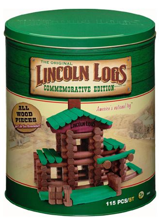 Lincoln Logs: Since 1918 children have been building homes from these miniature interlocking wood beams.