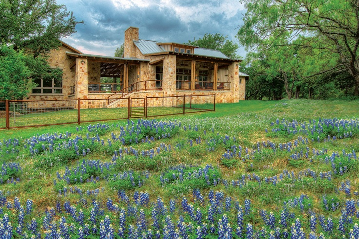 37 best images about stone house metal roof on pinterest for Hill country style homes