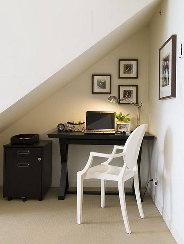 small office space ideas | 20 Home Office Designs for Small Spaces | Daily source for inspiration ...: Ideas, Offices Spaces, Small Offices, Understairs, Under Stairs, Small Spaces, Homes, Home Offices, Nooks
