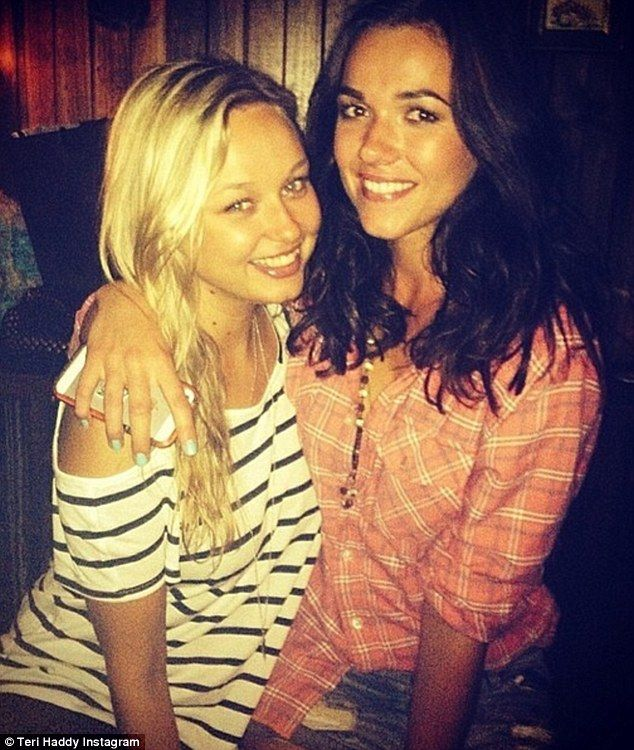 Summer Bay besties: Teri and Demi Harman met on the set of Home and Away last year and have been very close ever since