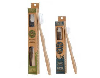 miljøvennlig tannbørste i bambus