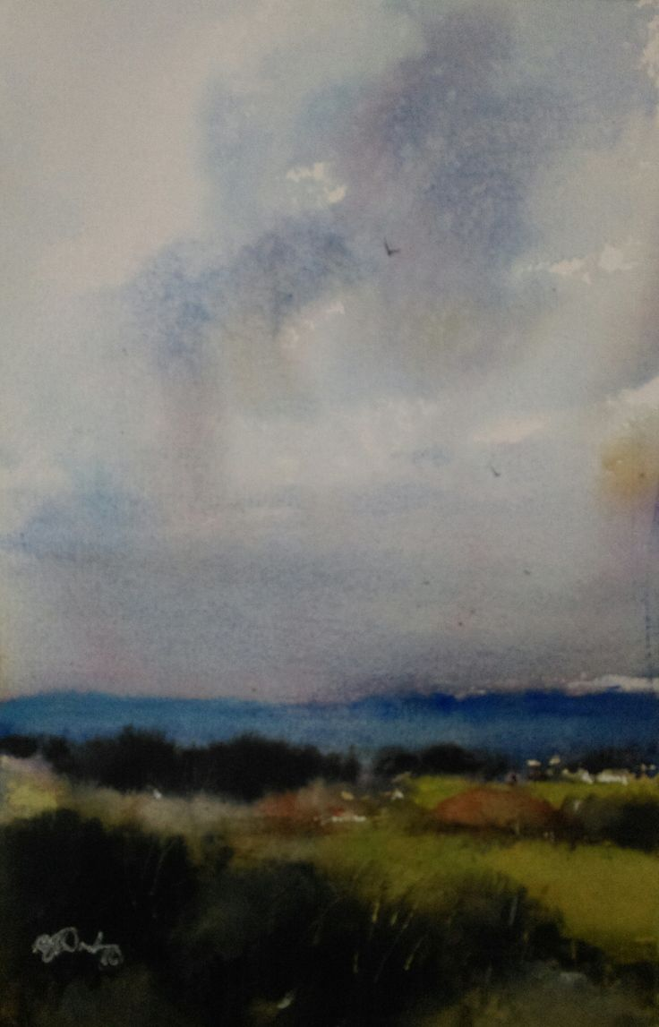 """""""Blue Hills"""" by Brian Dickinson. Paintings for Sale. Bluethumb - Online Art Gallery"""