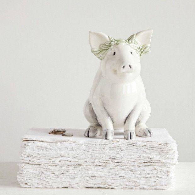 Charming Ceramic Piggy Bank