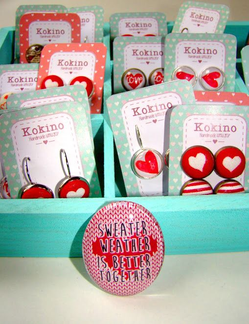 Valentine earring collection by kokino