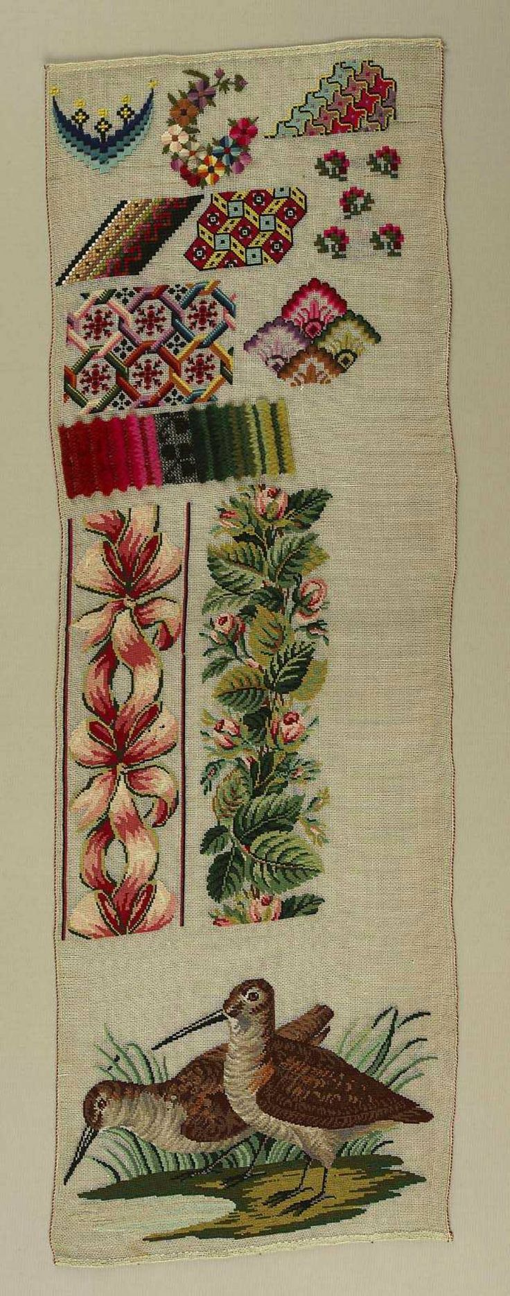 19th Century Berlin WoolWork Sampler Dated Around 1840s