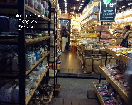herbal oil, essential oil shop at chatuchak market bangkok
