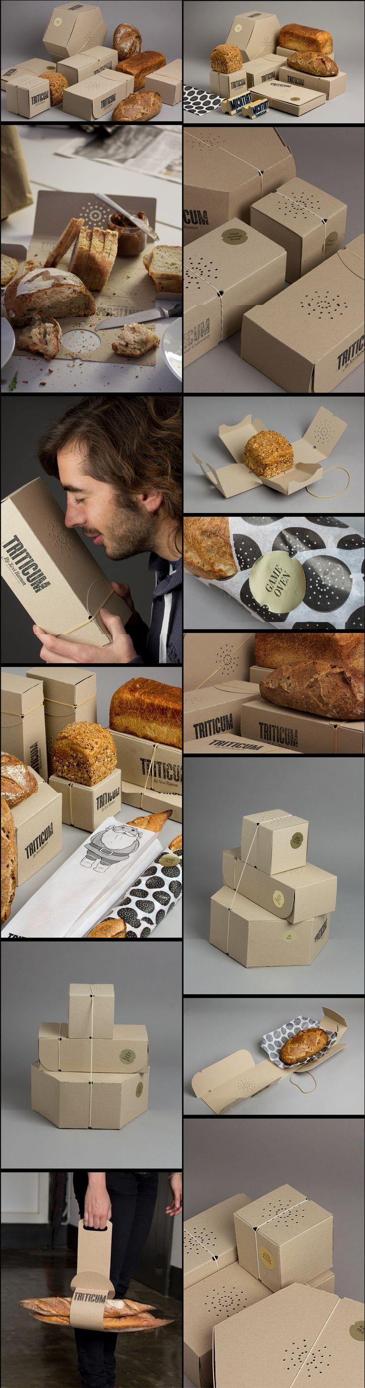 Triticum: empaquetado de pan, con diseño y preparado para poder olerlo