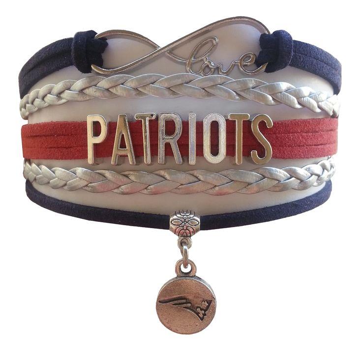 New England Patriots Football Fan Shop Infinity Bracelet
